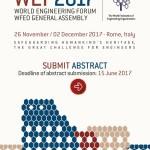 WEF 2017 Il Forum Mondiale dell'Ingegneria – Roma 27 Novembre 2017